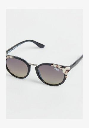 AUBREY  - Sunglasses - gloss black/tortoiseshell corner