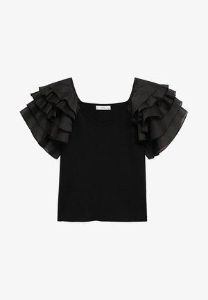 FRUFRU - Print T-shirt - zwart