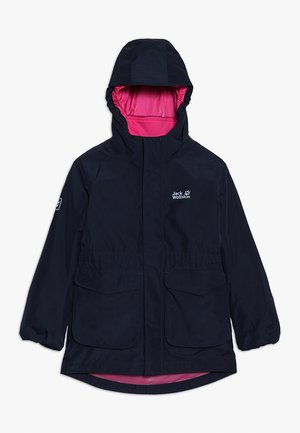 ICE CAVE JACKET GIRLS 2-IN-1 - Hardshellová bunda - midnight blue