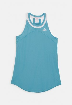 CLUB TANK UNISEX - Sports shirt - hazblu/white