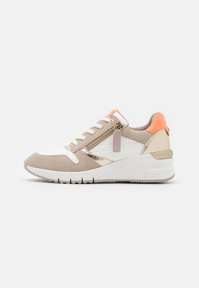 Sneakers laag - dune/light gold