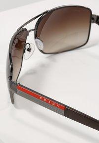 Prada Linea Rossa - LIFESTYLE - Sunglasses - gunmetal/brown - 2