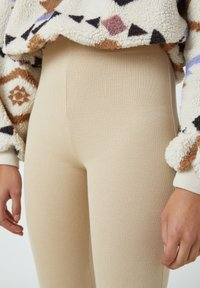 PULL&BEAR - Trousers - mottled beige - 3