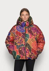 Farm Rio - GREEN COOL LEOPARD REVERSIBLE PUFFER JACKET - Winter jacket - mottled olive - 3
