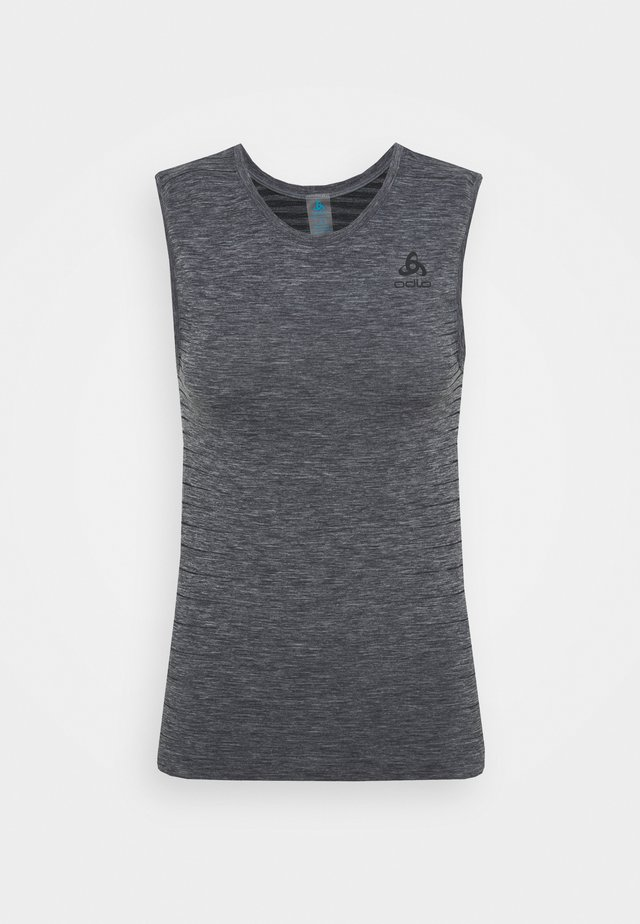 PERFORMANCE LIGHT CREW NECK SINGLET - Top - grey melange