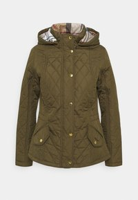Barbour - MILLFIRE QUILT - Zimní bunda - olive/hessian - 0