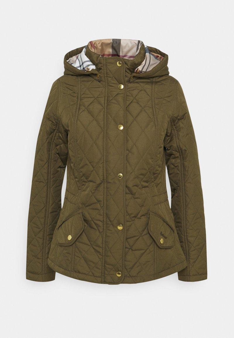Barbour - MILLFIRE QUILT - Zimní bunda - olive/hessian