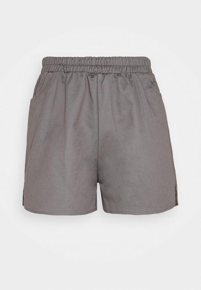 ELASTICATED WAISTBAND RUNNER - Shorts - charcoal
