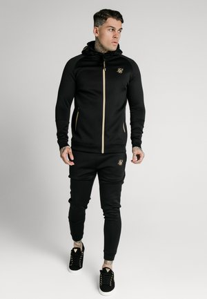 ZIP THROUGH - Cardigan - black/gold