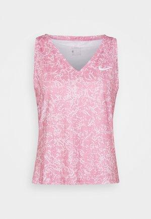 VICTORY TANK PRINT - Funkční triko - elemental pink/white