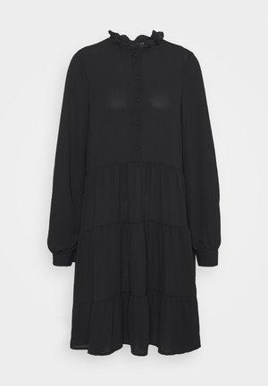 VMZIGGA FRILL - Shirt dress - black