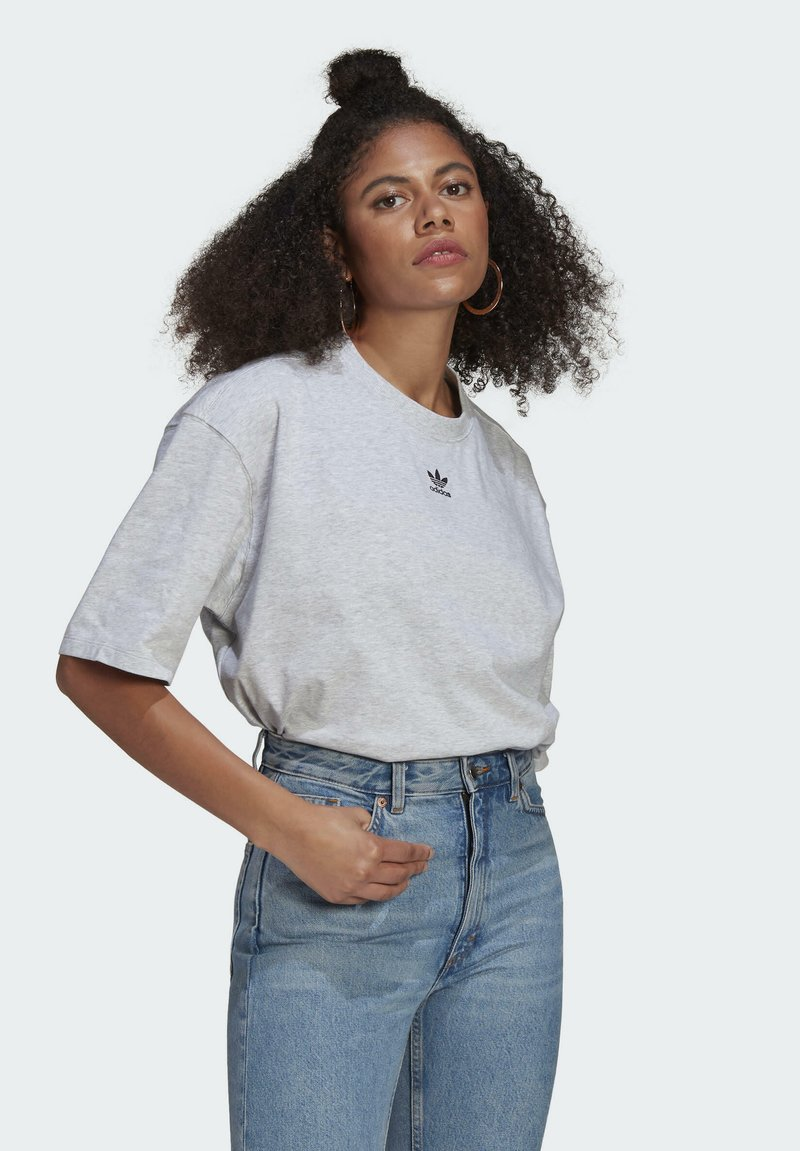 adidas Originals - TEE - Basic T-shirt - light grey heather