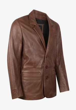 Leather jacket - cognac brown