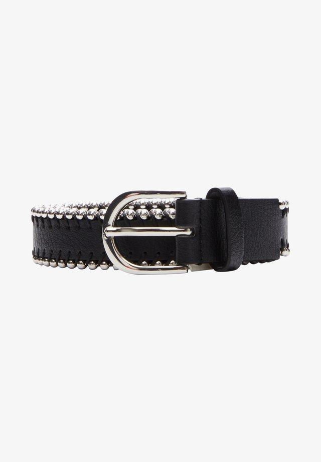 MIT SCHMUCKPERLEN - Belt - black