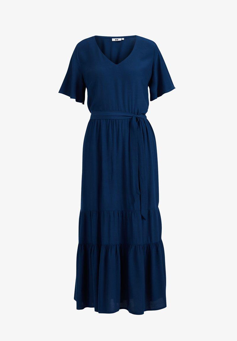 WE Fashion - MET BLOEMENDESSIN - Maxi dress - cobalt blue