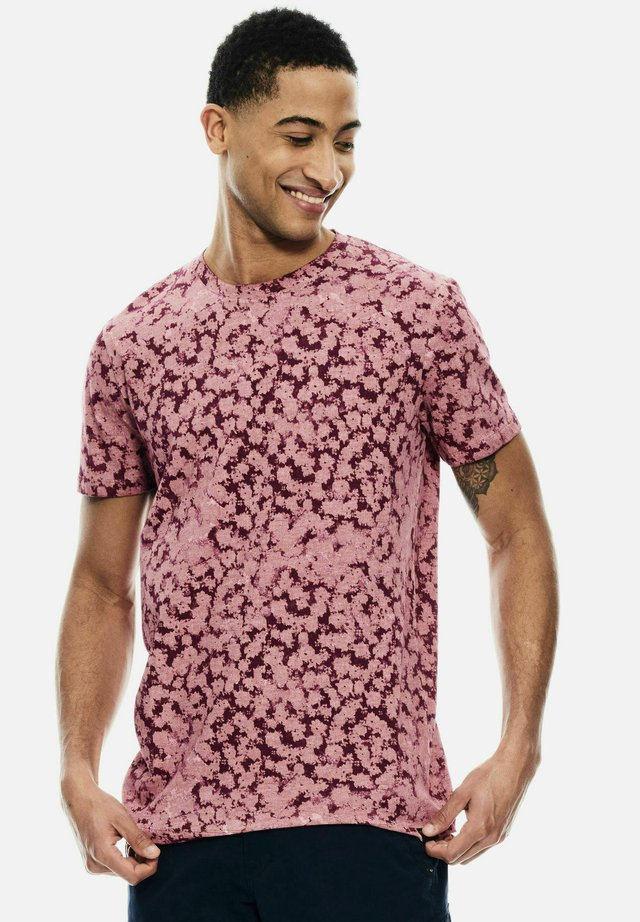 WITH ALLOVER PRINT - T-shirt print - mauve mist