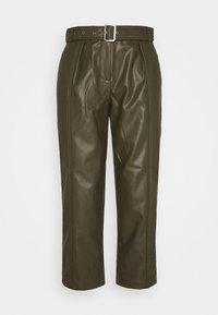 ONLSTAN BELT PANT - Trousers - olive green