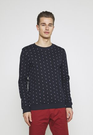 CREWNECK WITH ALLOVERPRINT - Sweatshirt - navy colored squares print