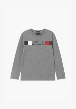GLOBAL STRIPE TEE - Longsleeve - grey