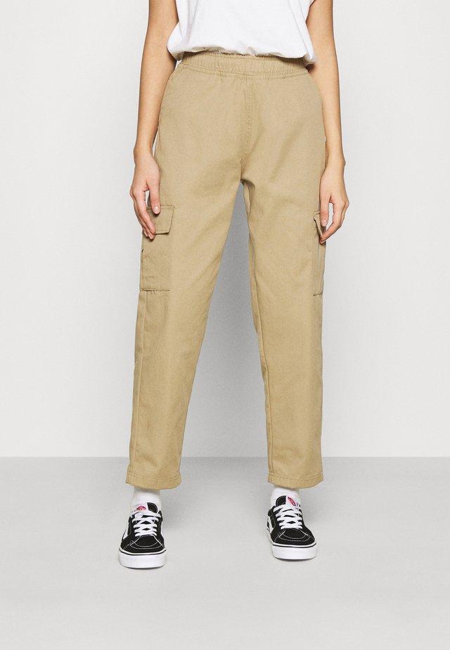 PANTS - Trousers - tan