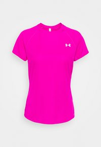 Under Armour - SPEED STRIDE SHORT SLEEVE - T-shirt con stampa - meteor pink - 0