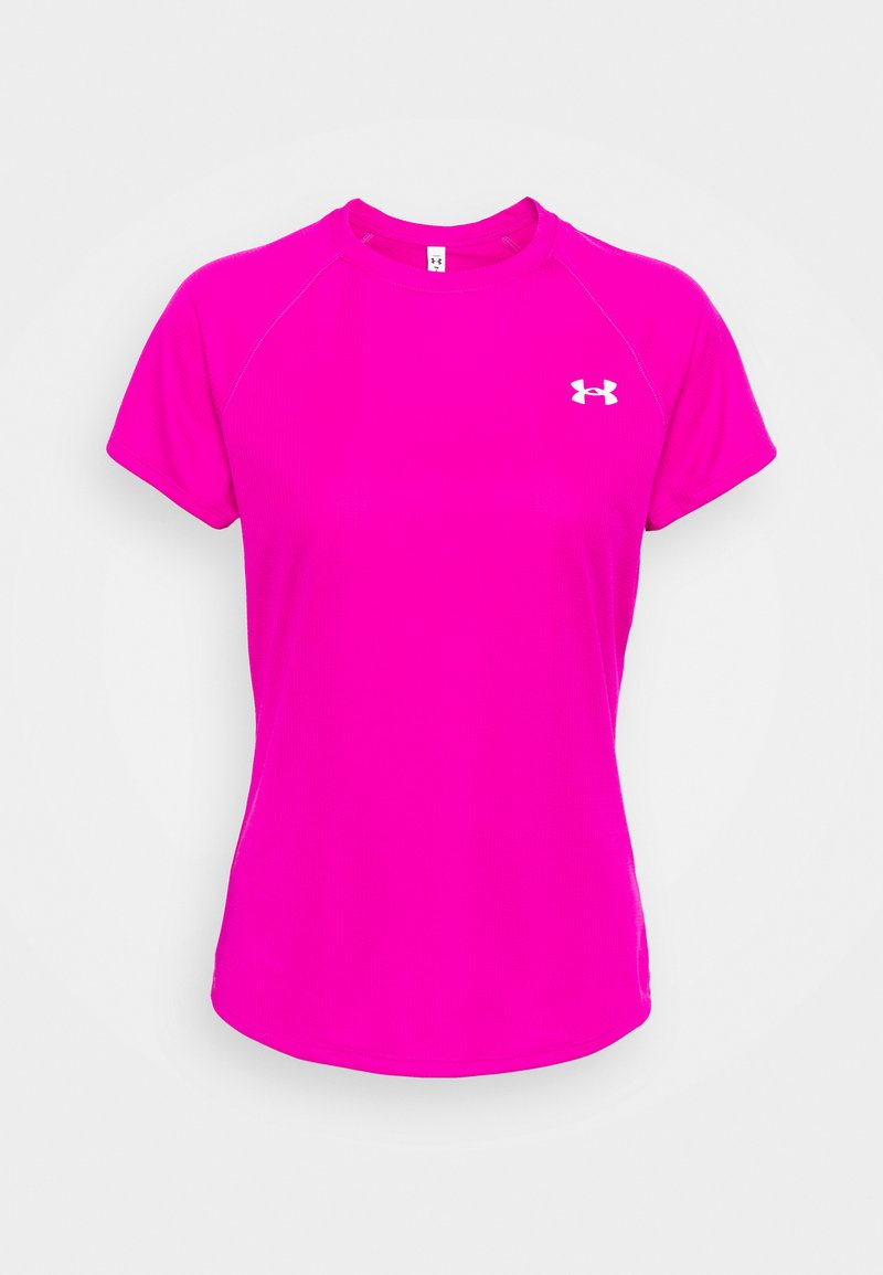 Under Armour - SPEED STRIDE SHORT SLEEVE - T-shirt con stampa - meteor pink