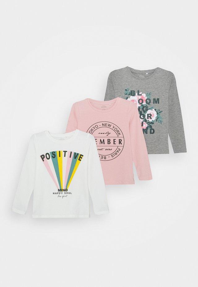 NKFVIX 3 PACK - T-shirt à manches longues - coral blush