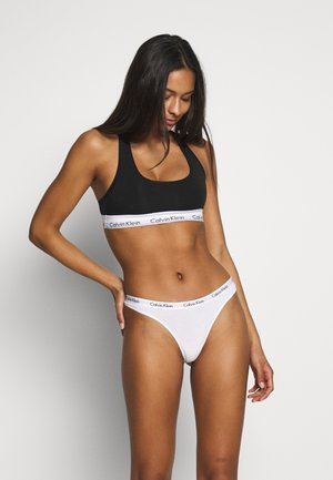 THONG 3 PACK - String - bubble gum/white/grey heather