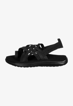 VOYA STRAPPY WOMENS - Walking sandals - black