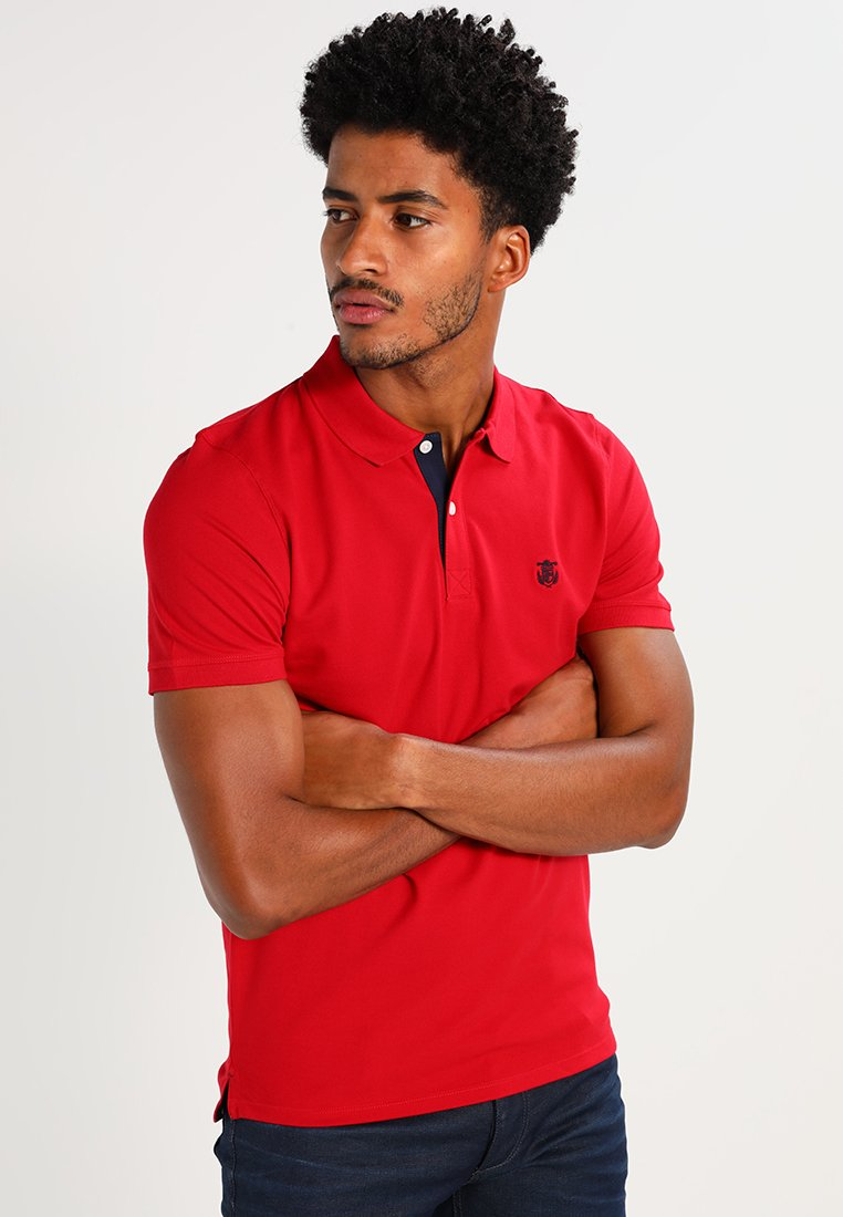 Selected Homme - SLHARO EMBROIDERY - Polo shirt - true red