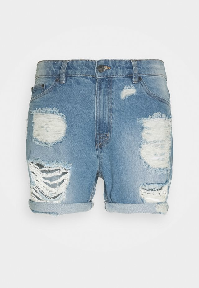UNISEX - Short en jean - blue denim
