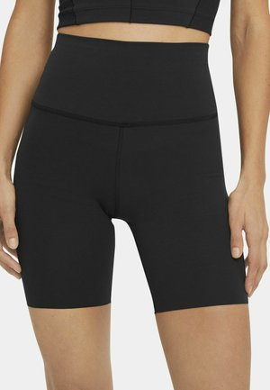 YOGA LUXE SHORT - Tights - black/dark smoke grey