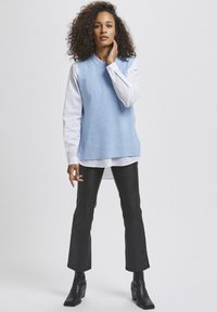 Kaffe - Top - chambray blue melange - 1