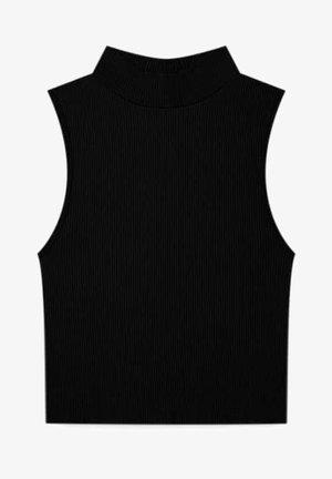MIT STEHKRAGEN - Top - black