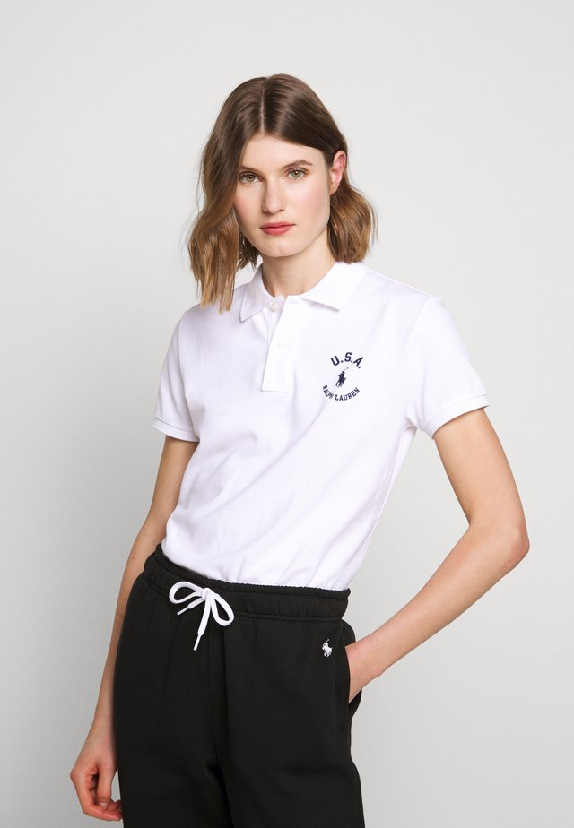 FLAG CLASSIC FIT - Polo shirt - white