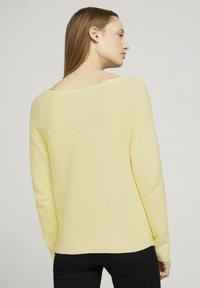 TOM TAILOR DENIM - Jumper - soft yellow - 2