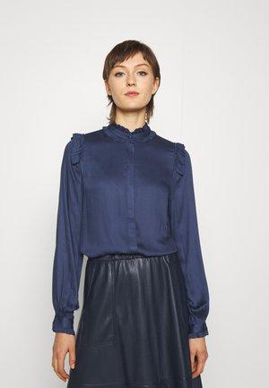 BAUMA FLORINA SHIRT - Button-down blouse - dark blue