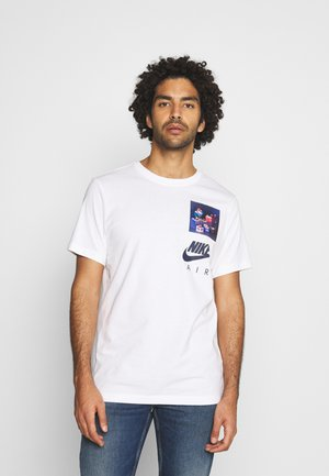 TEE AIRMAN DJ - Camiseta estampada - white