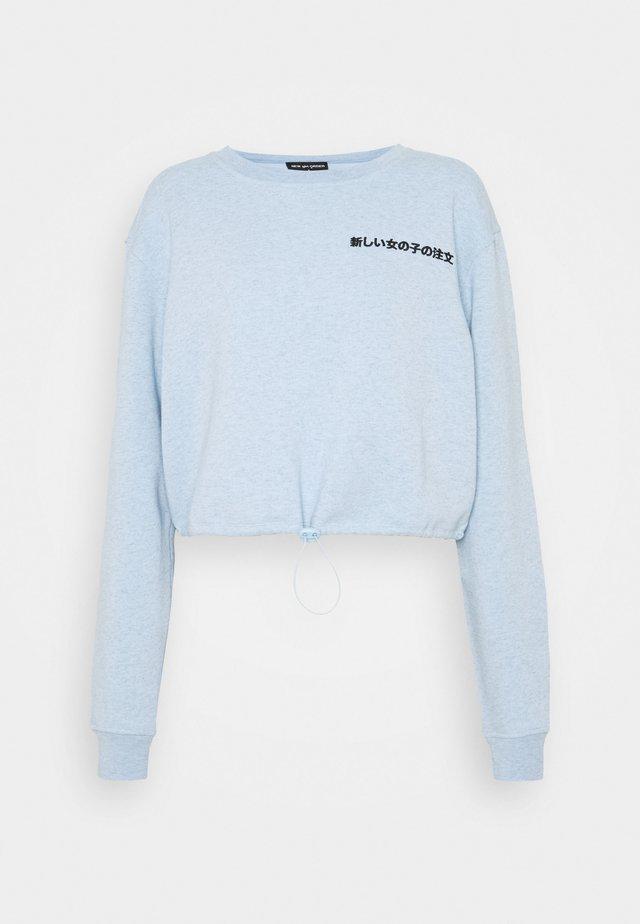 KANJI ELASTIC  - Sweatshirt - blue