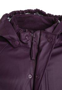 CeLaVi - RAINWEAR SUIT BASIC SET WITH FLEECE LINING - Rain trousers - blackberry wine - 5