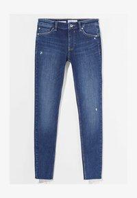 Bershka - LOW WAIST PUSH UP - Jeans Skinny Fit - dark blue - 4