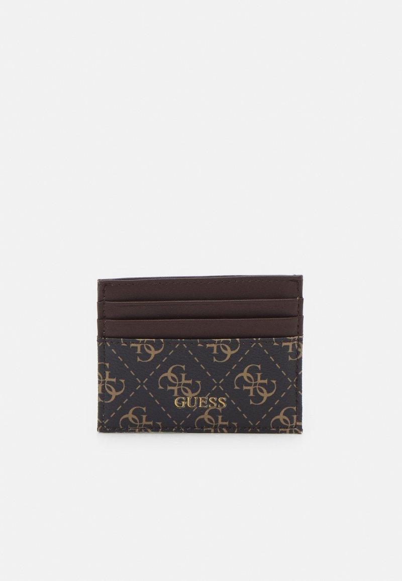 Guess - VEZZOLA CARD CASE UNISEX - Wallet - dark brown