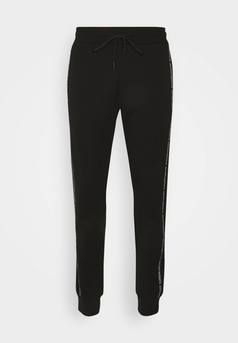 Antony Morato - TROUSERS SLIM FIT IN TERRY FABRIC WITH RUBBER - Tracksuit bottoms - black