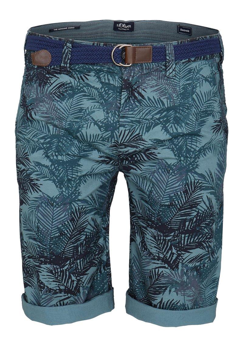 s.Oliver - BERMUDA - Shorts - petrol aop