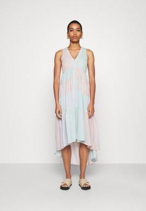 TIERED SLEEVELESS DRESS - Maxi dress - faded rainbow