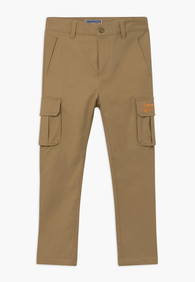 LOOSE TAPERED FIT - Pantalones cargo - sand