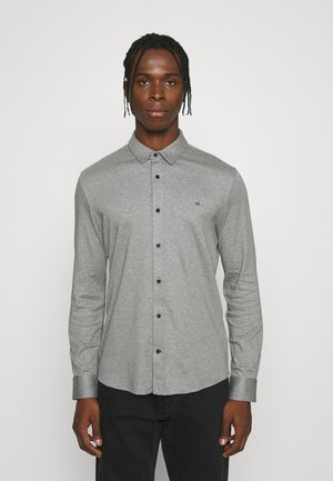 SLIM FIT KNITTED SHIRT - Overhemd - mid grey heather