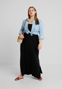 New Look Curves - TIE STRAP - Maxi dress - black - 1