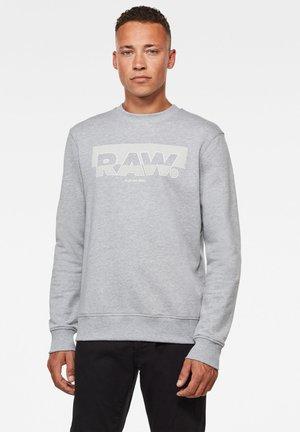 RAW BLOCK RASTER ROUND LONG SLEEVE - Sweatshirt - grey htr