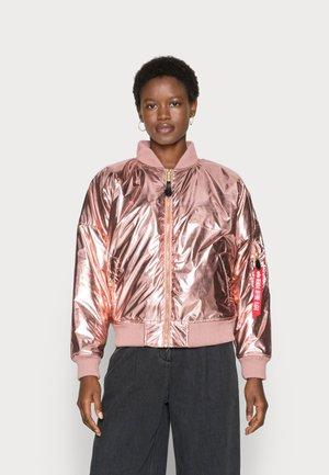 METALLIC - Winter jacket - rose copper